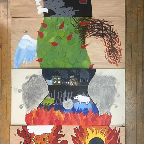 """If Global Warming was described as a monster"" by Carlos Perez-Boza - image 1 - (Community Arts 2020)"