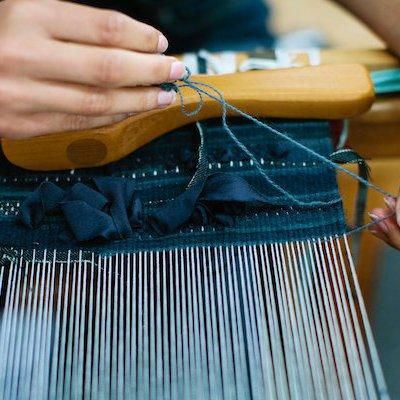 Dye lab weaving studio loom