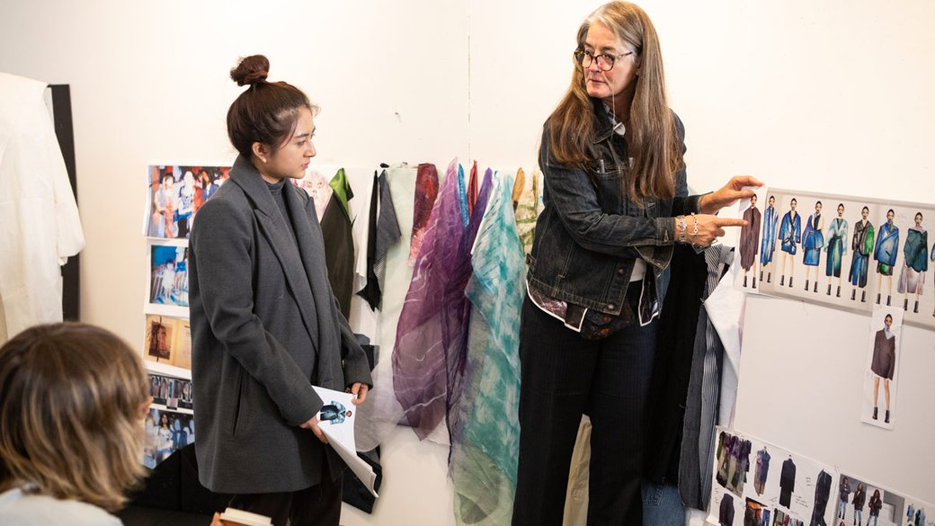 Fashion Class 3 Critique with Faculty member Linda Grose