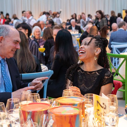 Vice President of Human Resources Leslie Gray enjoying a lively conversation at the 2019 gala.