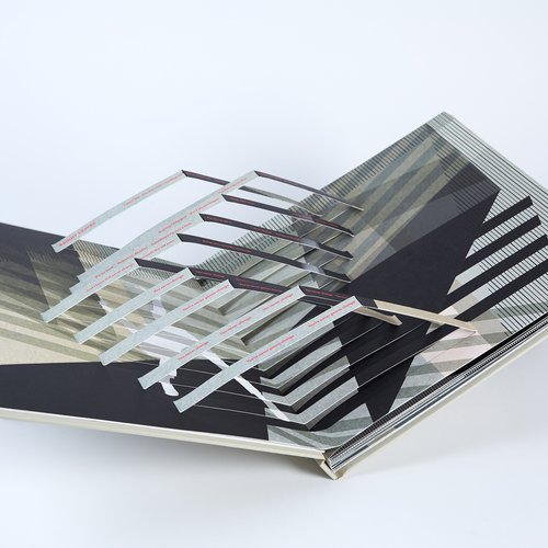 Lawrence Azerrad Wilco (BFA Graphic Design 1995), Ode To Joy, 2020. Print, handmade pop-up book, LP, 12 x 12 x 3 inches box + 20 page book. Value: $375