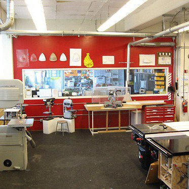 View of CCA's Model Shop