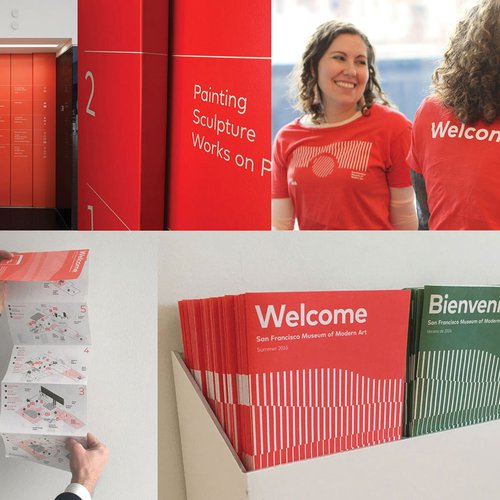 Elevator directories, frontline staff in easy-to-find t-shirts, and visitor guides strategically placed to help visitors navigate the new museum.