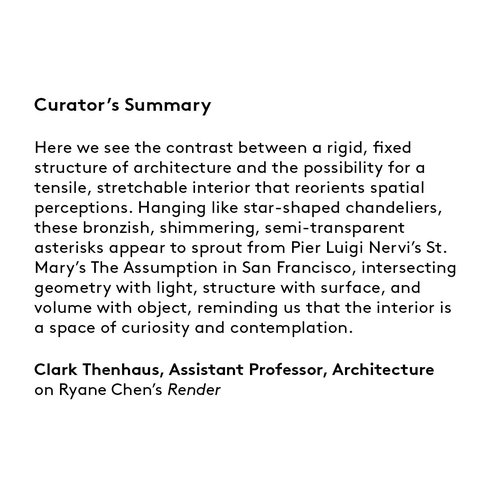 Curator's summary: Ryane Chen