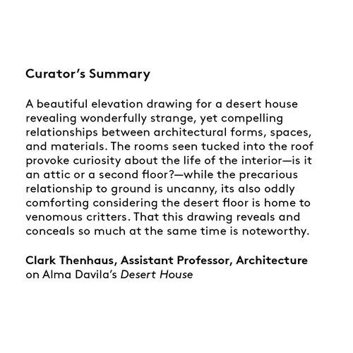 Curator's summary: Alma Davila