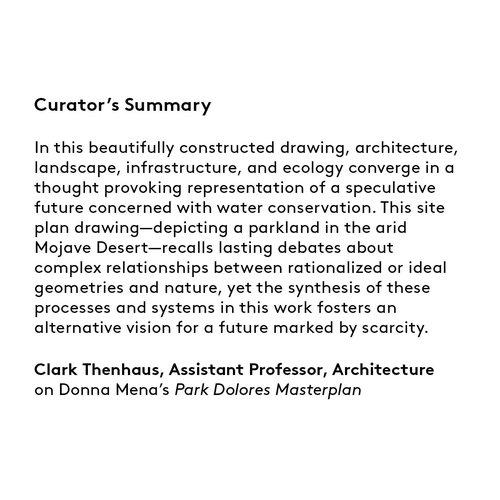 Curator's summary: Donna Mena