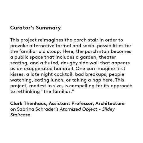 Curator's summary: Sabrina Schrader