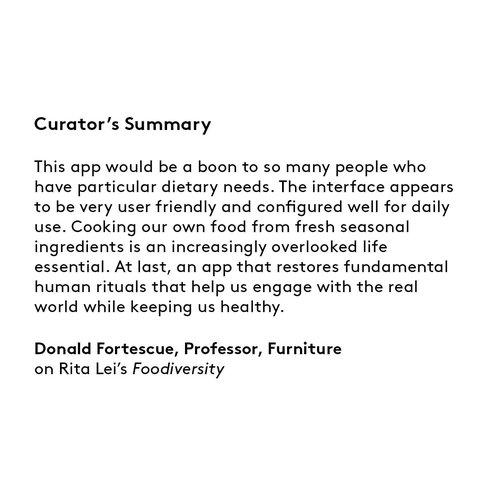 Curator's summary: Rita Lei