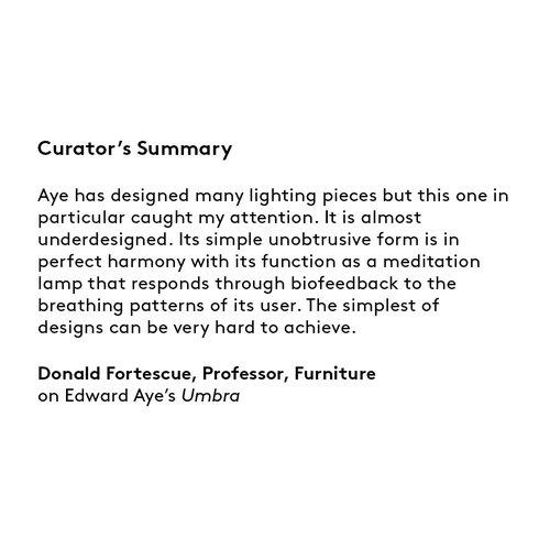 Curator's summary Edward Aye
