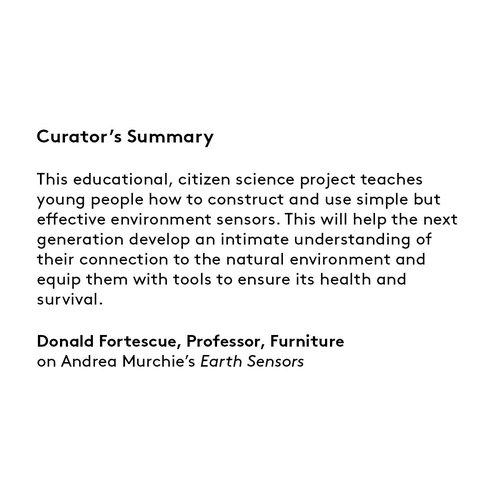 Curator's summary Andrea Murchie.
