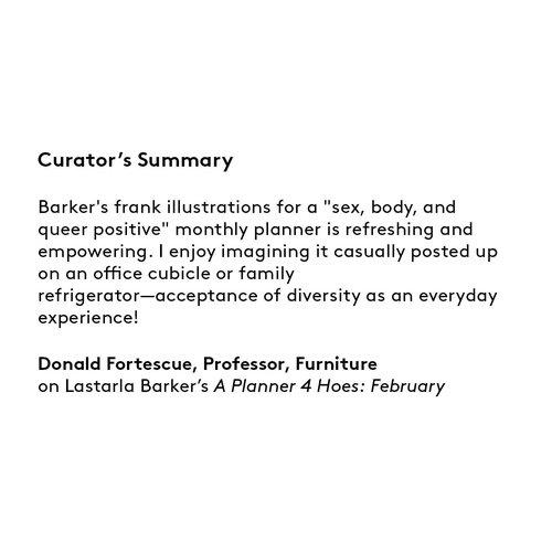 Curator's summary: Lastarla Barker
