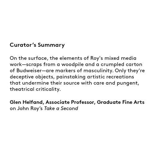 Curator's summary: John Roy.