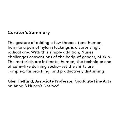 Curator's summary: Anna B Nunes.