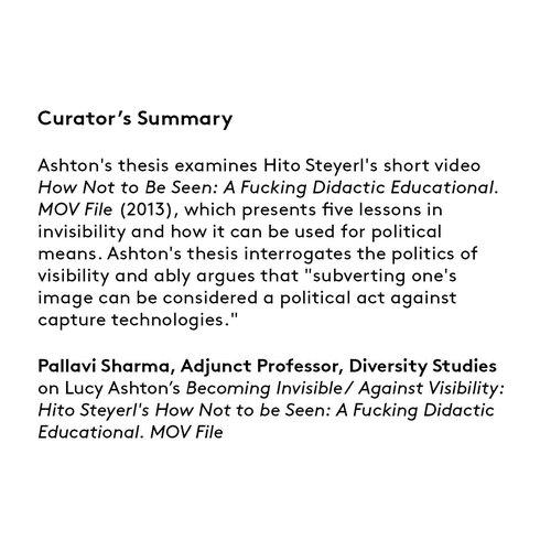 Curator's summary: Lucy Ashton.