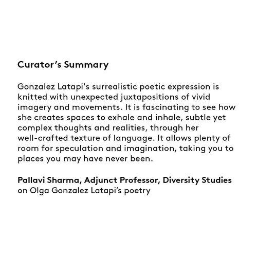 Curator's summary: Olga Gonzalez Latapi.
