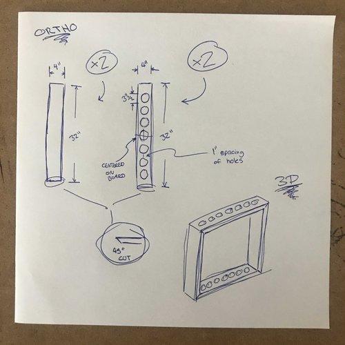 A sketch for the frame of Daniel Escobar's Tuber.