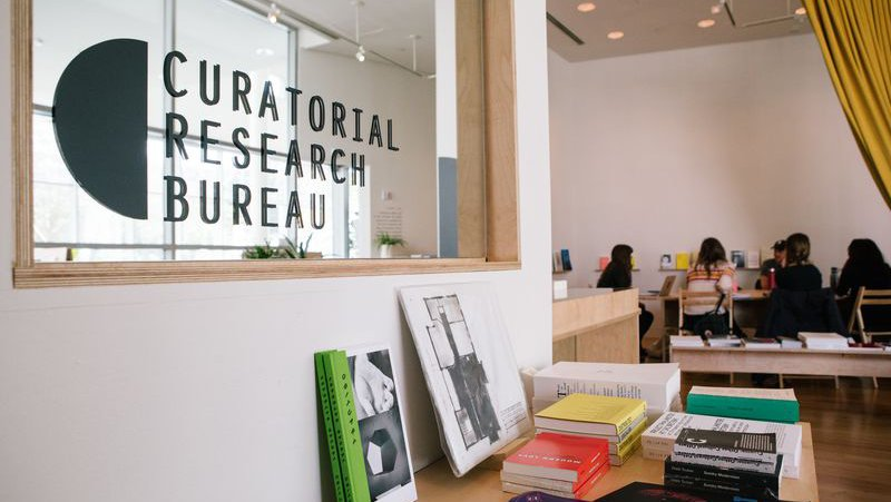 Class taking place in the Curatorial Research Bureau at YBCA_horizontal feature_MB