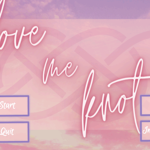 Screenshot of Alora Gates and Layia Bolden's Love Me Knot game.