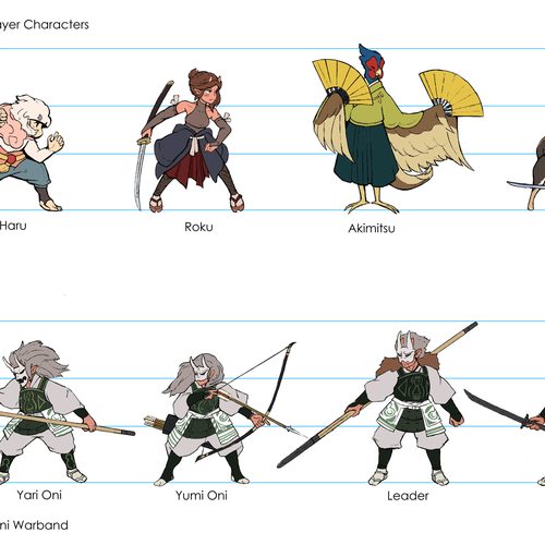 Character line-up artwork by Babak Saadat.